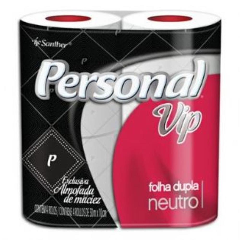 Papel Higiênico Personal Vip Folha Dupla (4 Unid.)