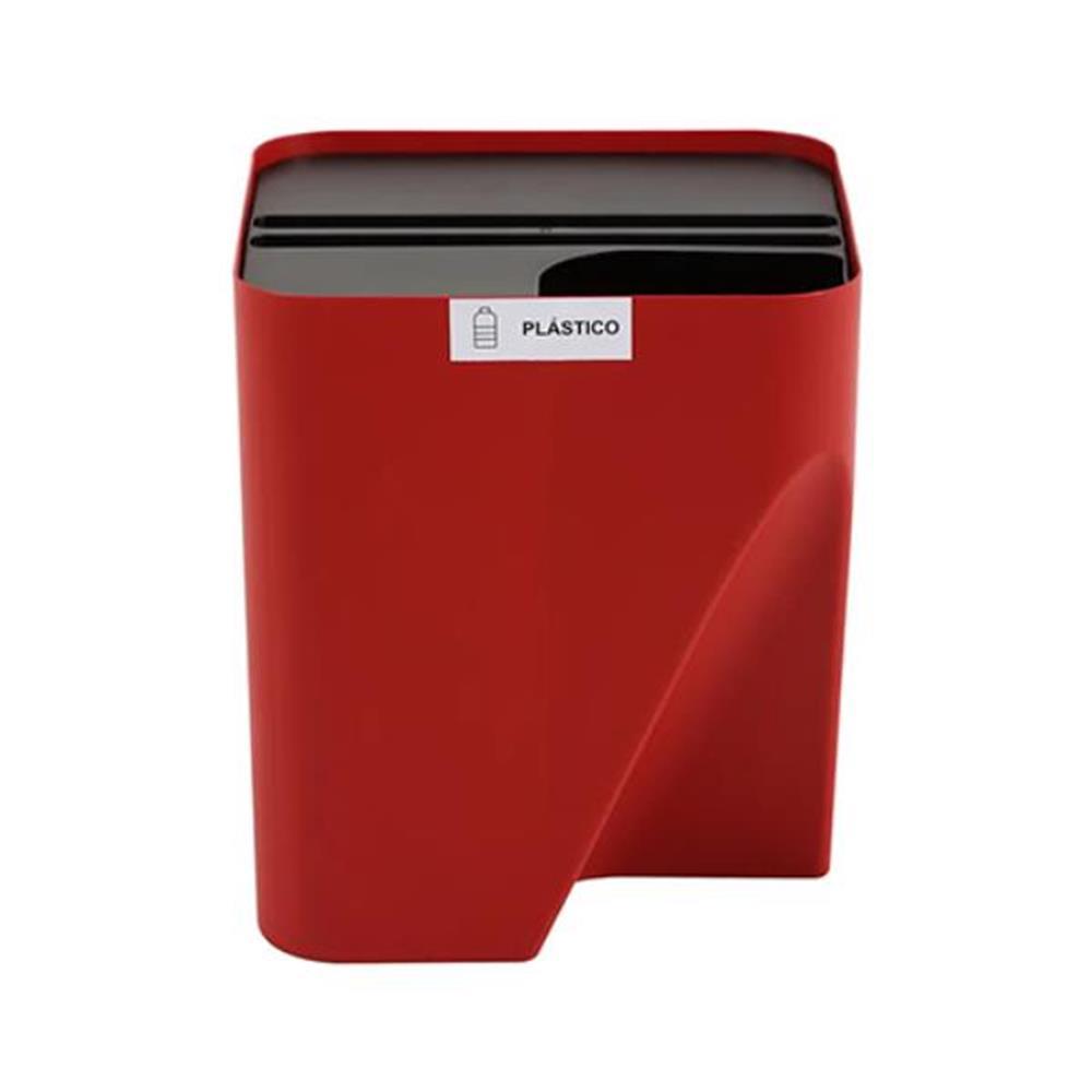 Lixeira Reciclável - Empilhável Eco Way - 25L - Cor: Vermelho