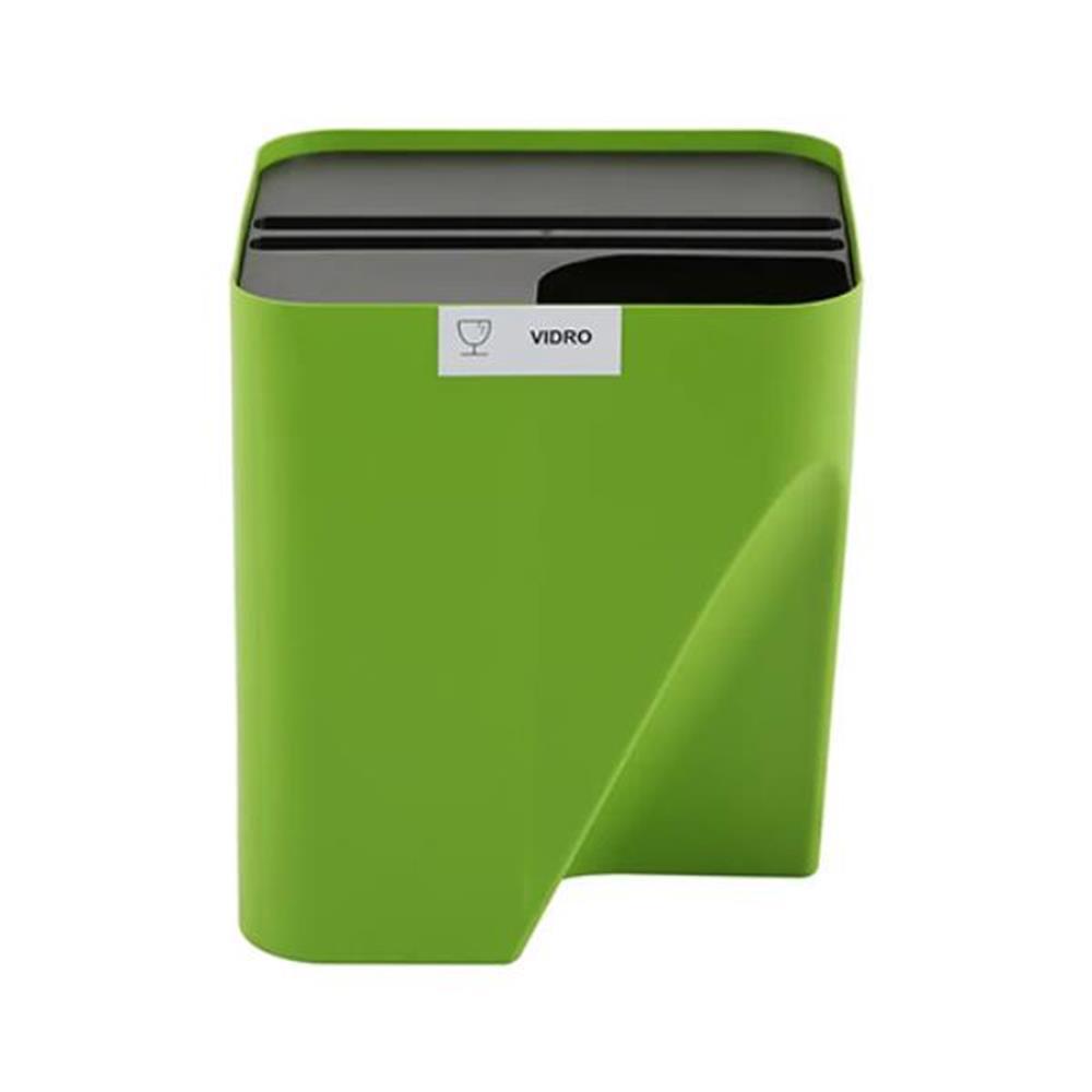 Lixeira Reciclável - Empilhável Eco Way - 25L - Cor: Verde