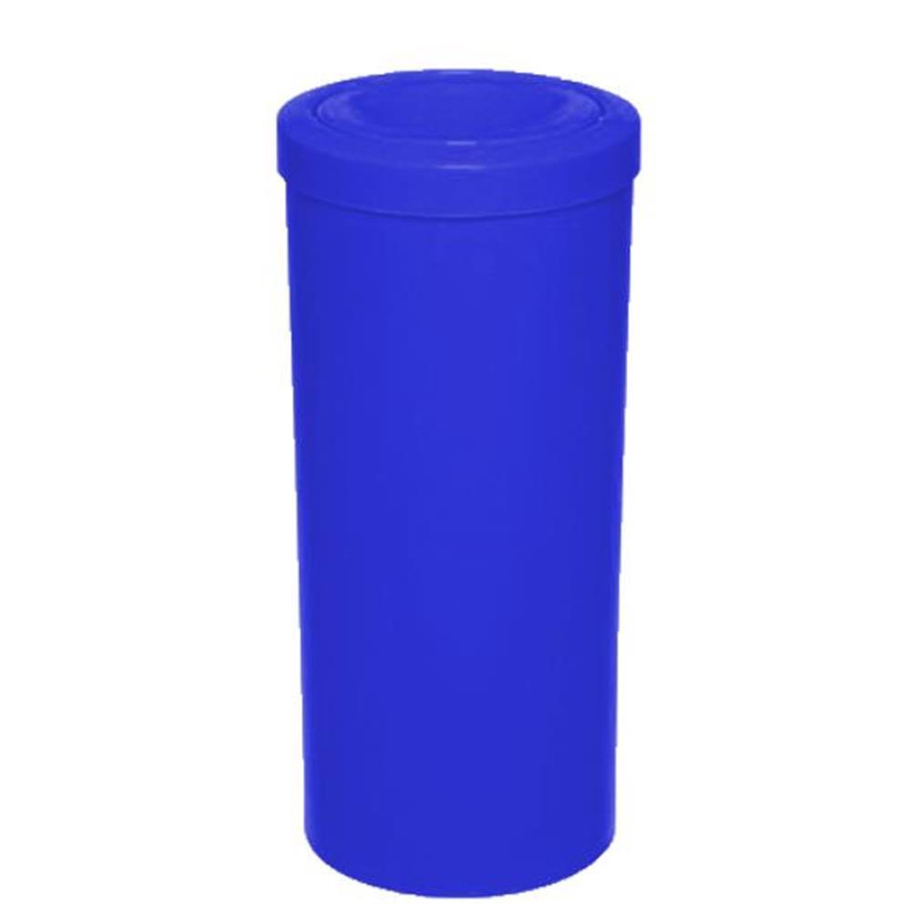 Lixeira Redonda Tampa Meia Esfera - 50L - Cor: Azul