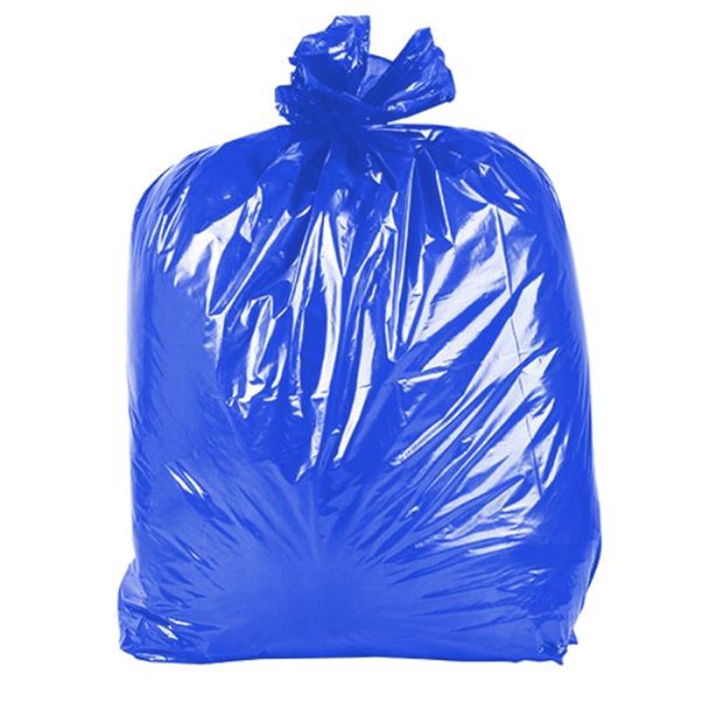 Saco de Lixo Colorido - 100 Unid - Cor: Azul, Vol: 105Lx0,04micras