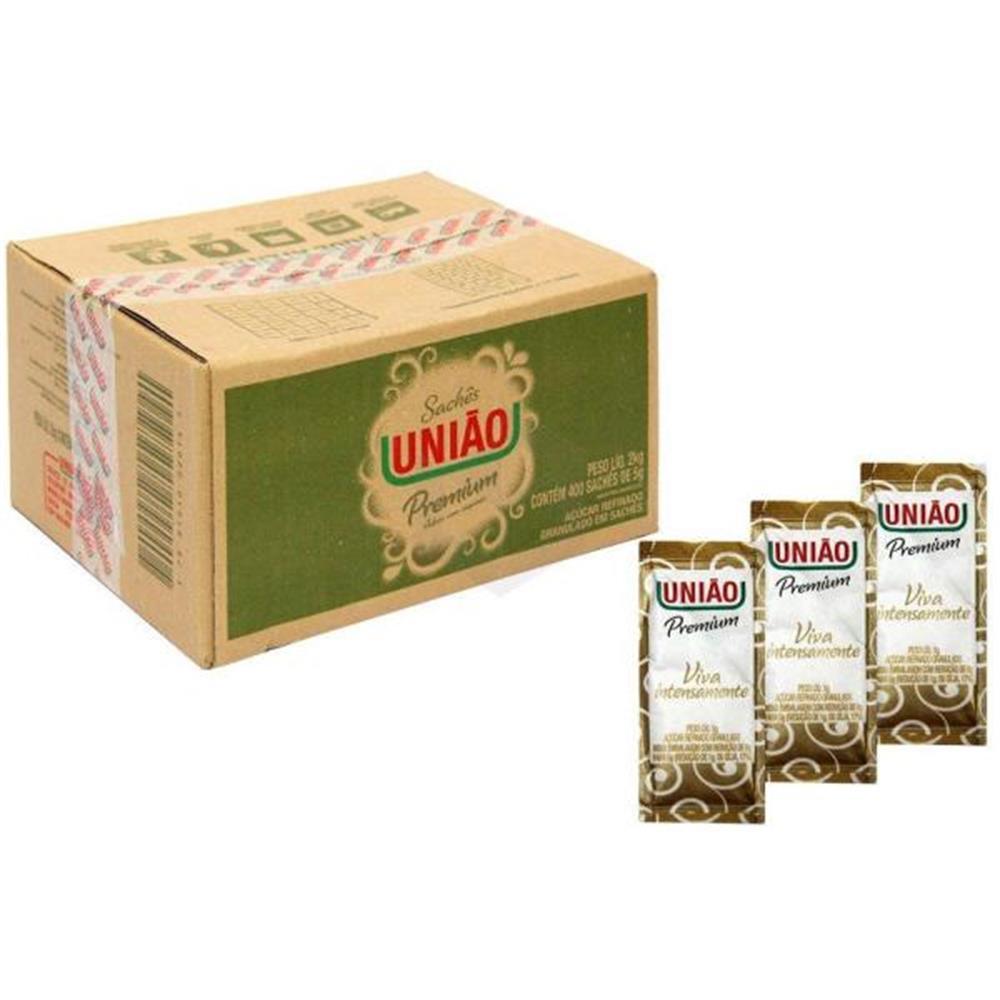 Açúcar Refinado Granulado em Sachês União - Caixa com 400 unid.