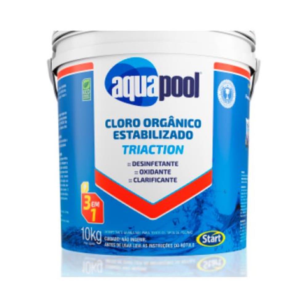 Cloro Granulado 3 em 1 Triaction Aquapool - 10kg