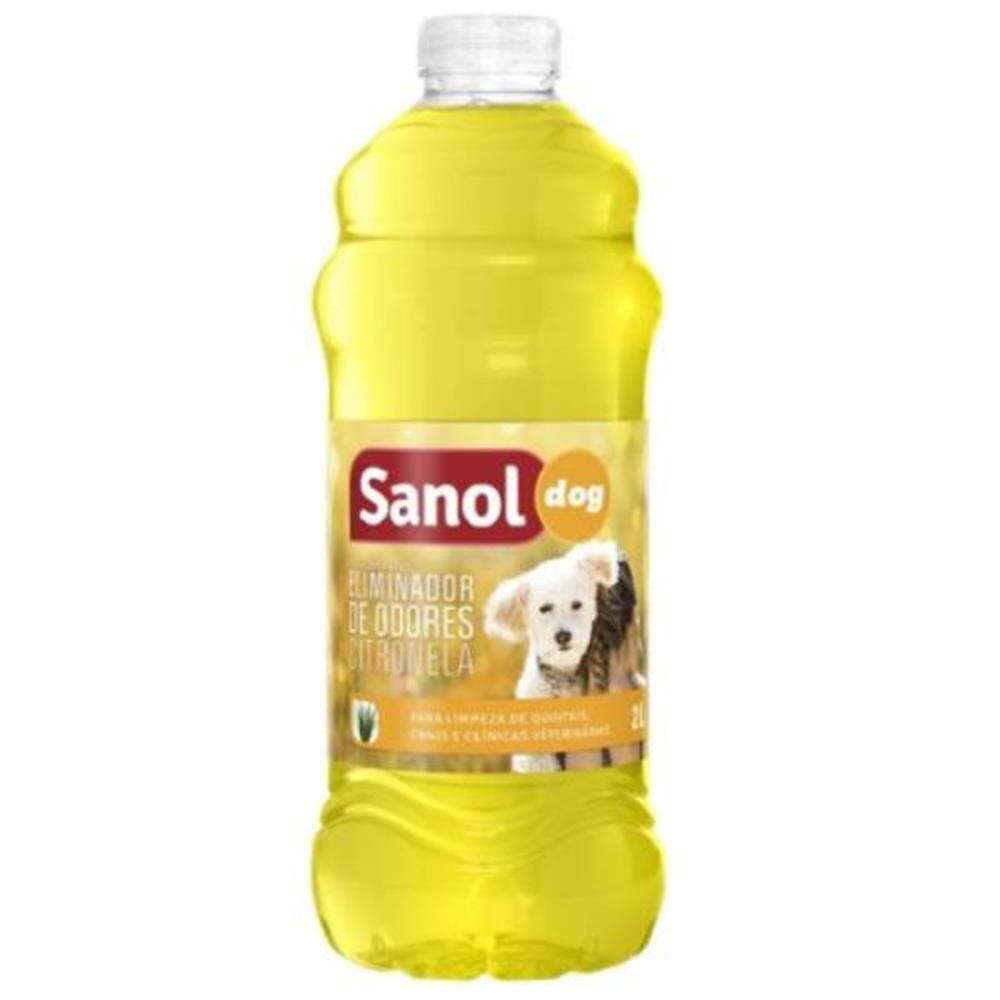Eliminador de Odores Sanol Dog Citronela - 2L
