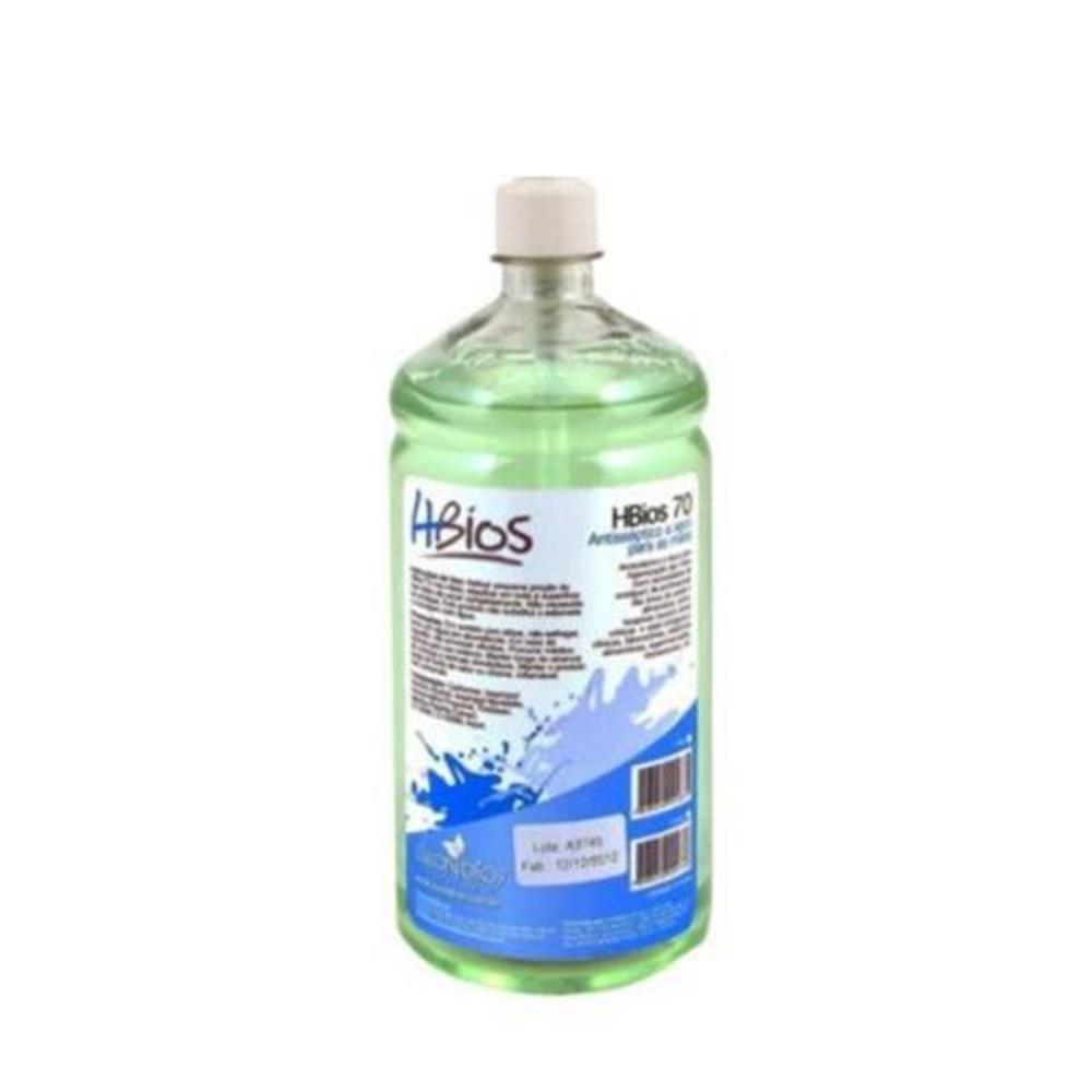Álcool em Gel 70° Antisséptico para as mãos HBios - 1L