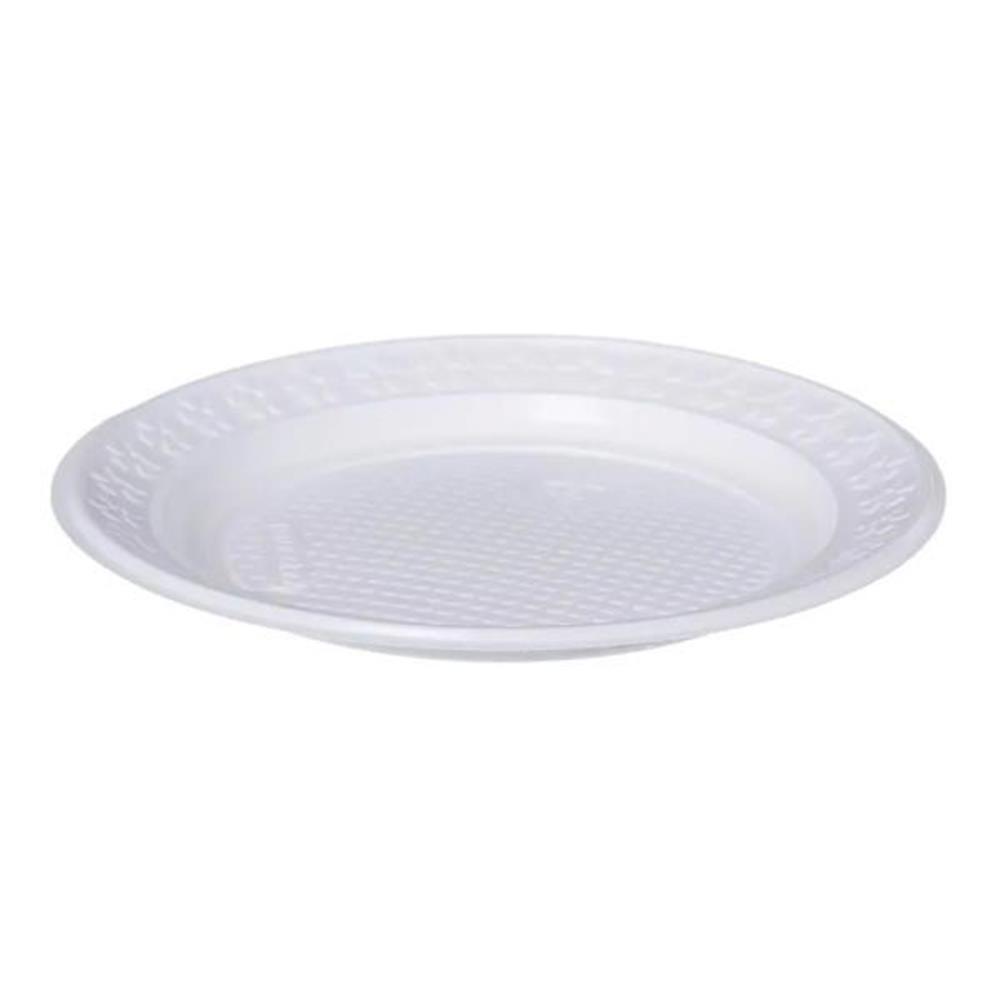 Prato Raso Descartável Branco - 500 unid.