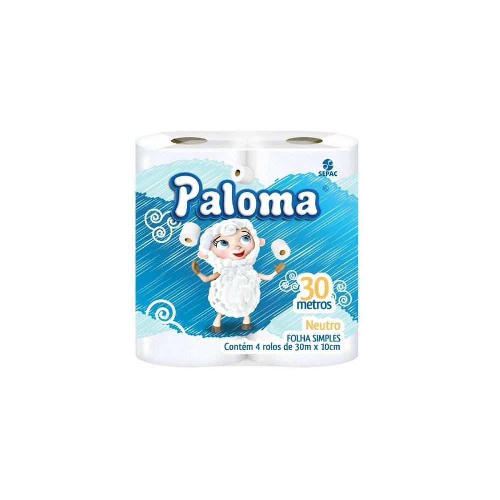 Papel Higiênico Paloma Folha Simples (4 unid.)
