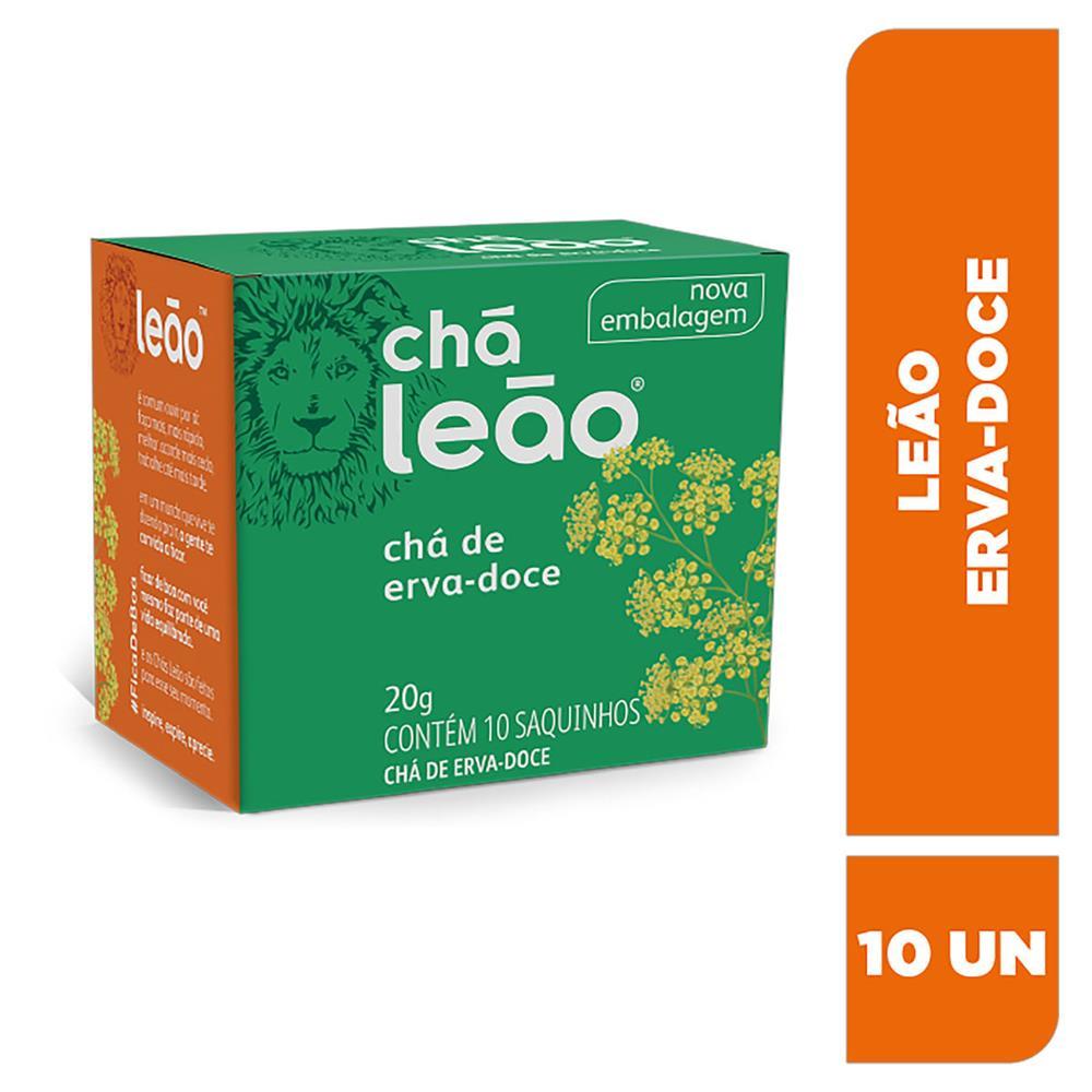 Chá Leão Fuze Erva Doce - 10 Sachês de 20g