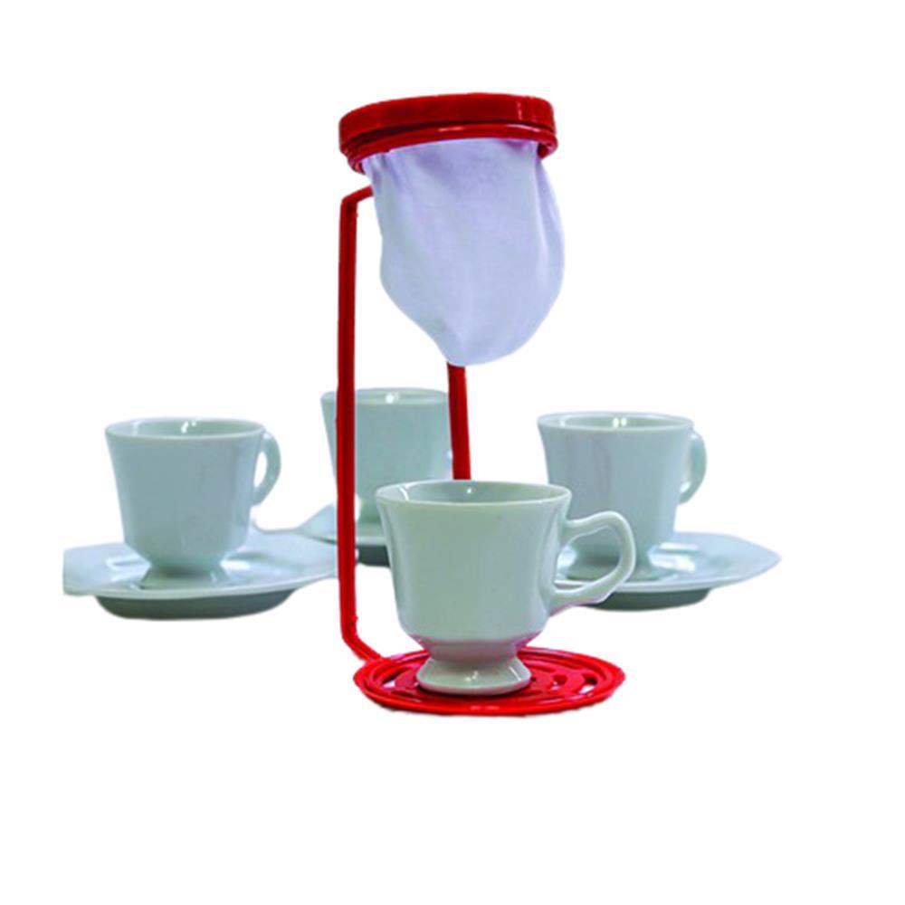 Coador de Pano p/Café Individual Marrom