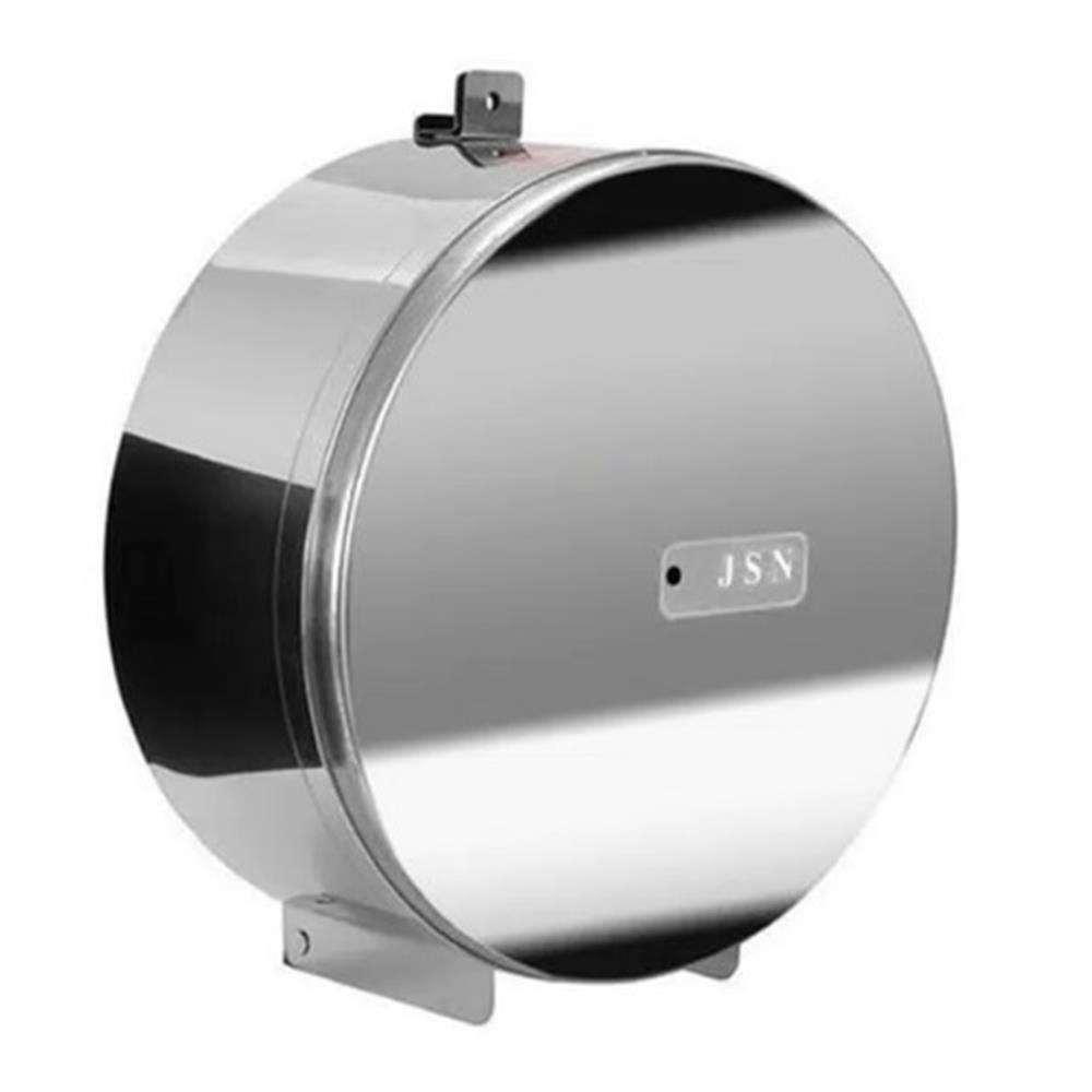 Porta Papel Higiênico Inox 300 à 400m com Porta Cadeado