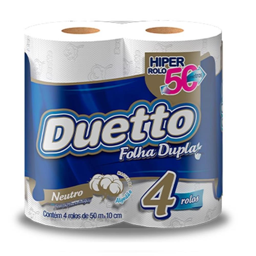 Papel Higiênico Duetto Folha Dupla (4 Unid.)