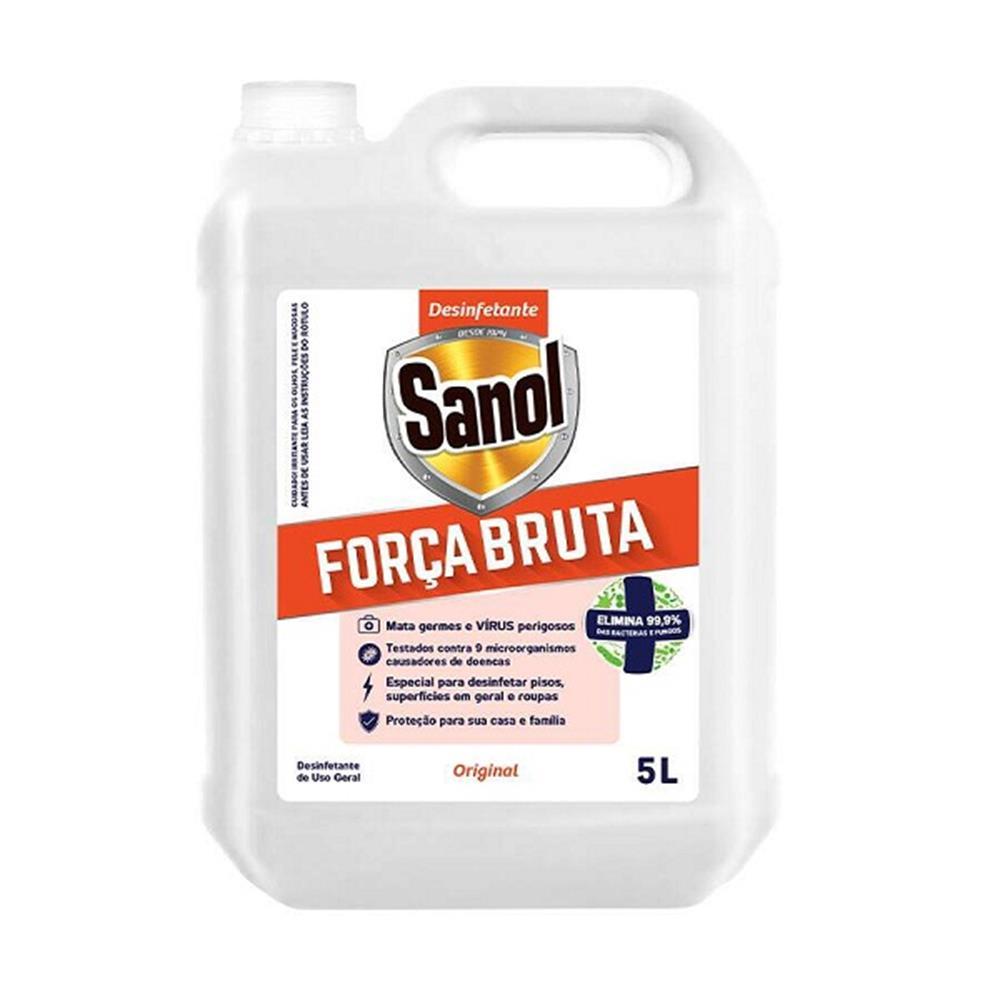 Desinfetante Bactericida Força Bruta Sanol- Gl. 5lts