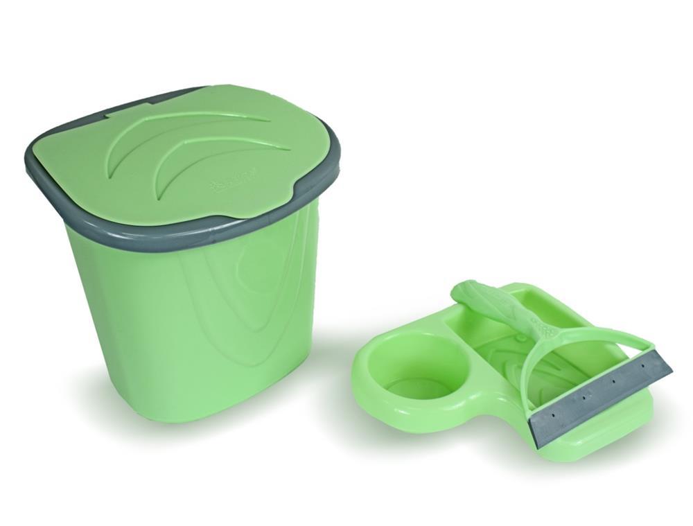 Kit de Pia - Lixeira/Rodo/Porta detergente CORES VARIADAS