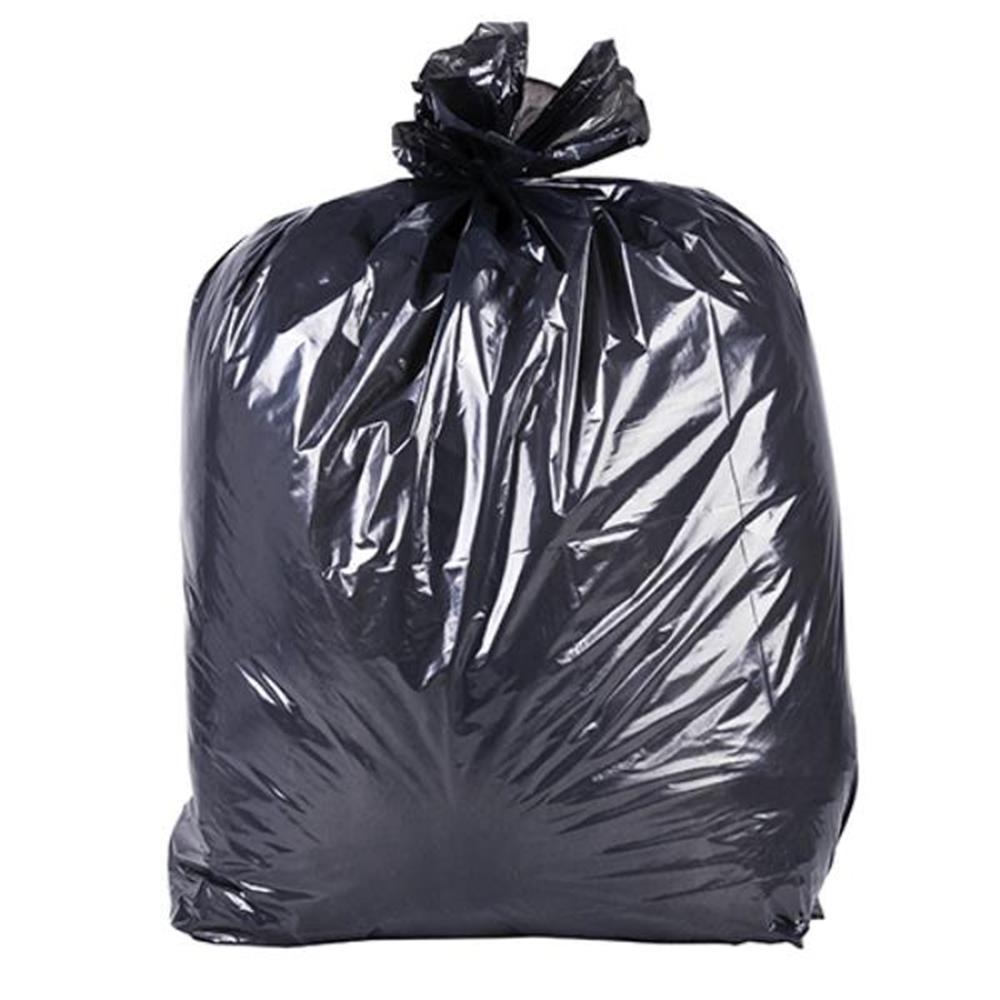 Saco de Lixo Preto - 100 und - 20L x 0,02 micras