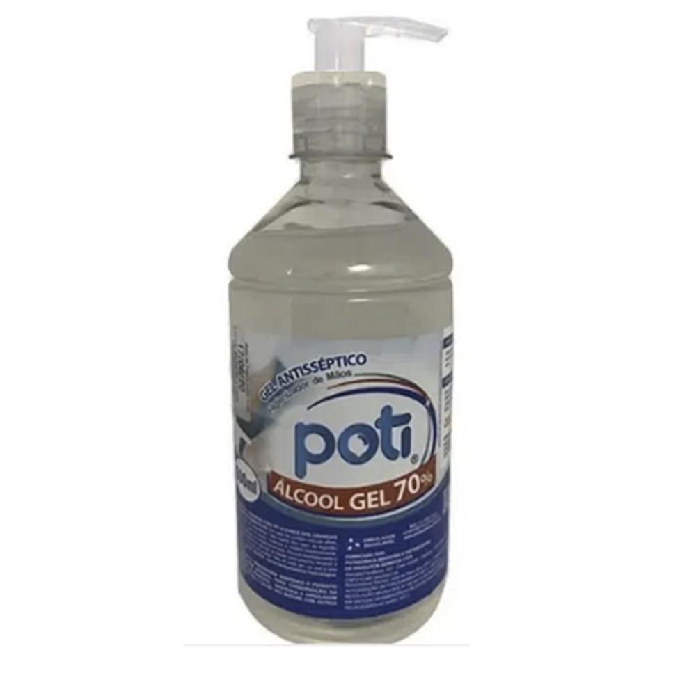 Álcool em Gel 70° Antisséptico para Mãos Poti com Valvula Pump - 500ml