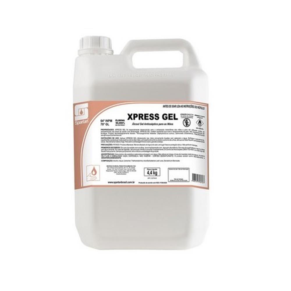 Álcool em Gel 70º Antisséptico para Mãos Spartan-Gl.5lts