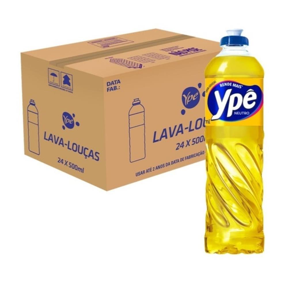 Detergente Ypê Neutro 500mL - Caixa com 24 unidades