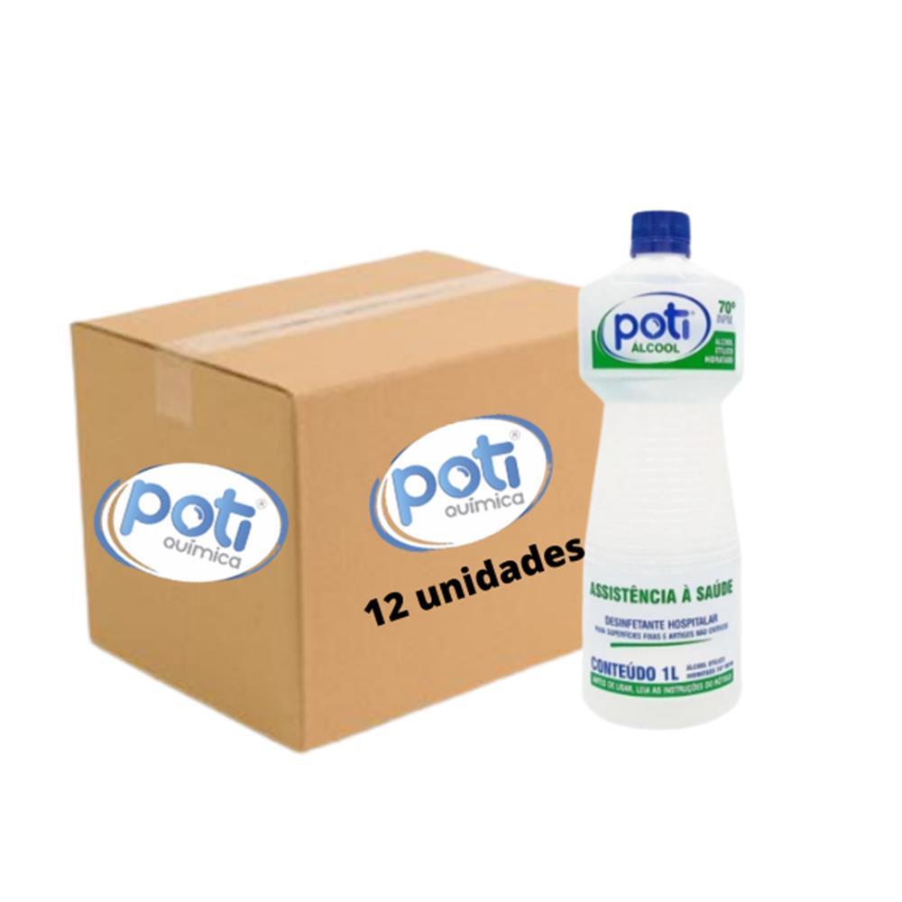 Álcool Líquido 70° Antisséptico Poti - Caixa com 12 unidades