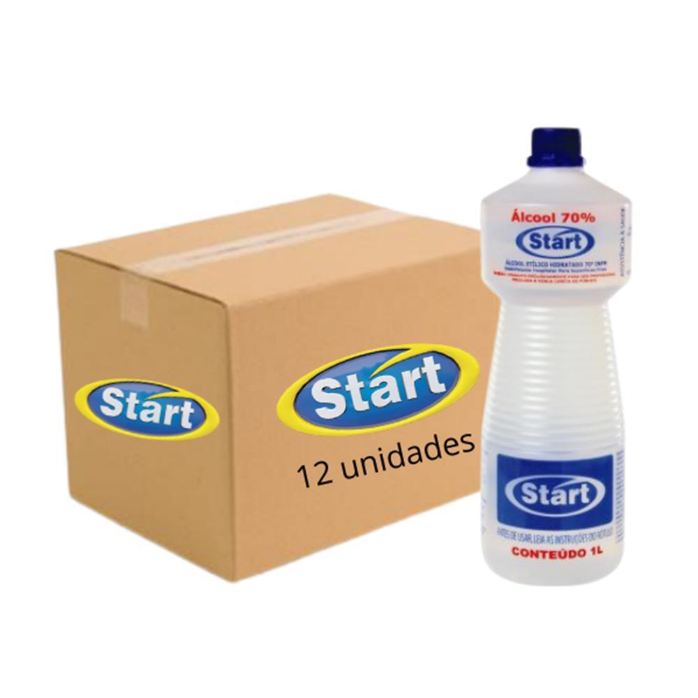 Álcool Líquido 70° Antisséptico Start 1L - Caixa com 12 unidades