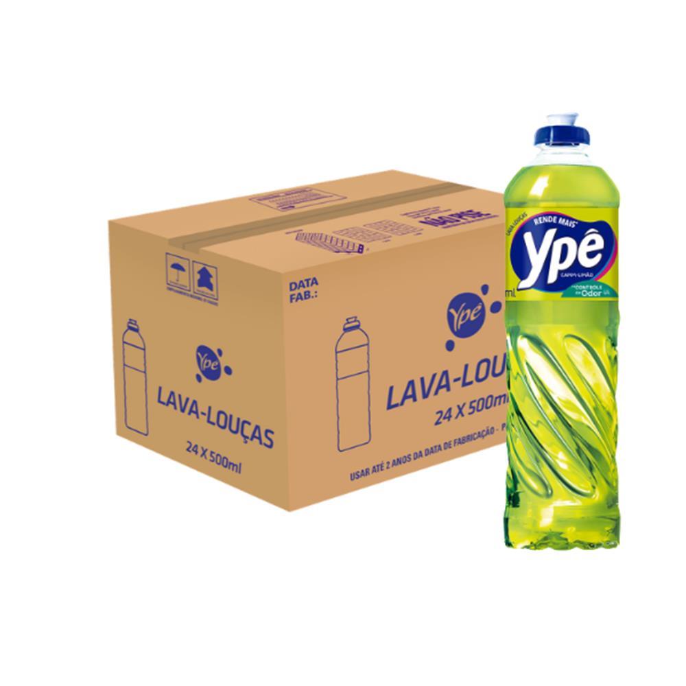 Detergente Capim Limão Ypê 500mL  - Caixa com 24 Unidades