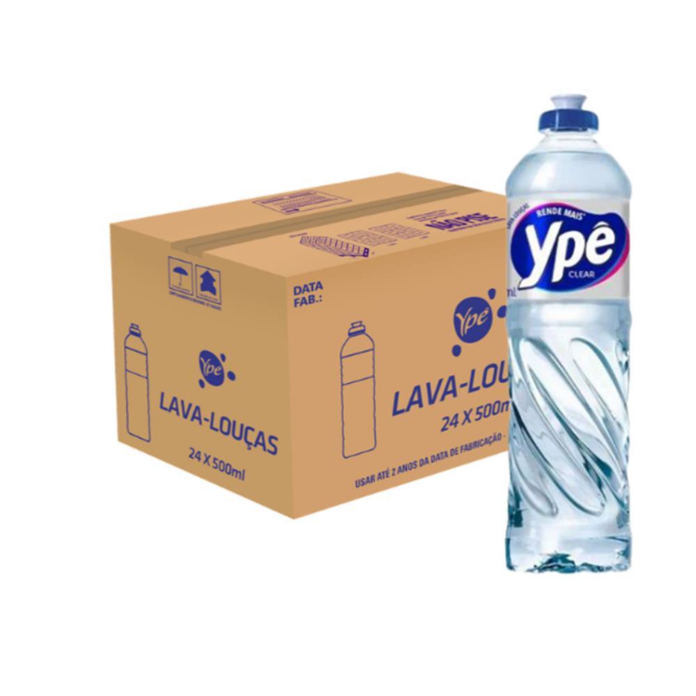 Detergente Ypê Clear 500mL - Caixa com 24 Unidades