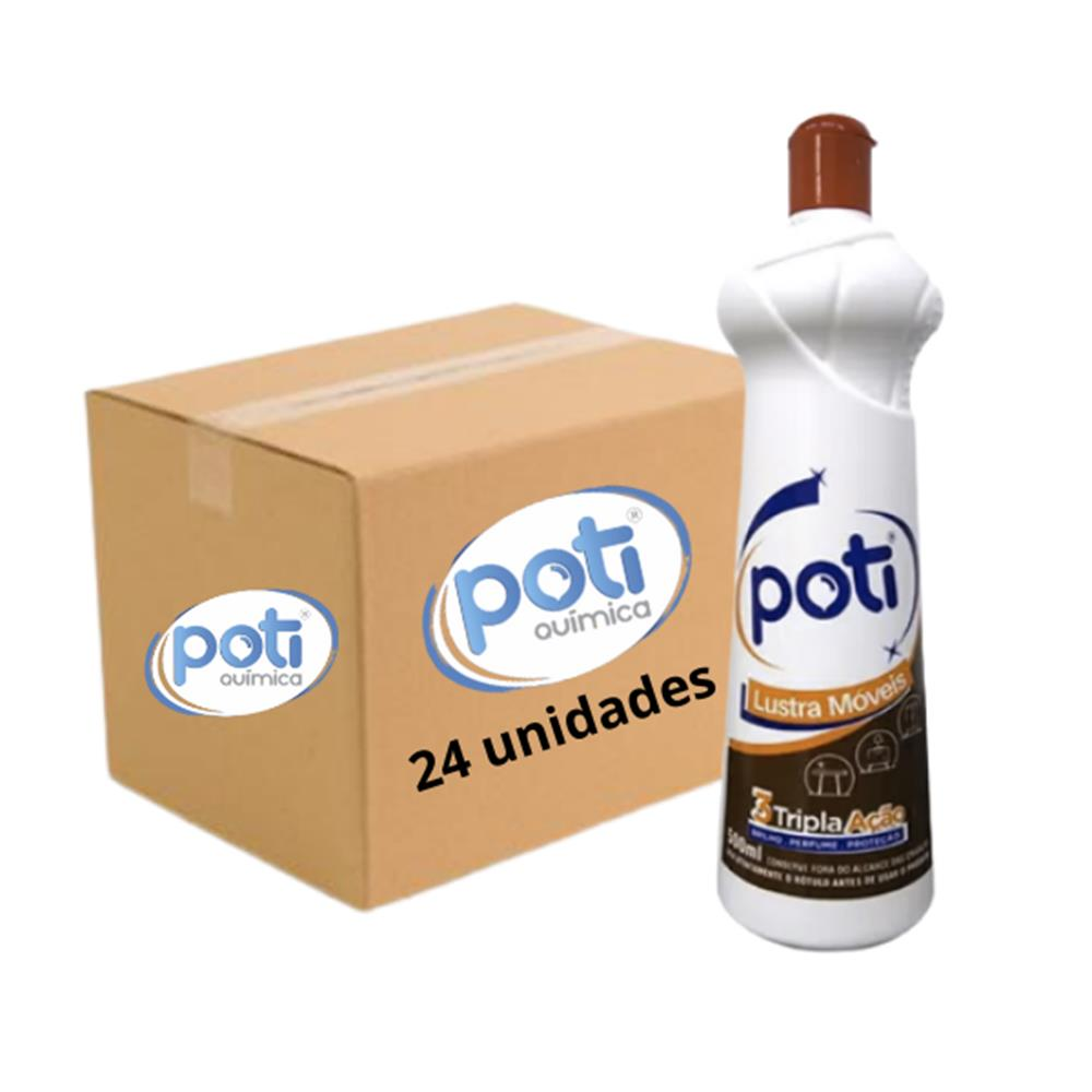 Lustra Móveis Poti 500mL - Caixa com 24 unidades