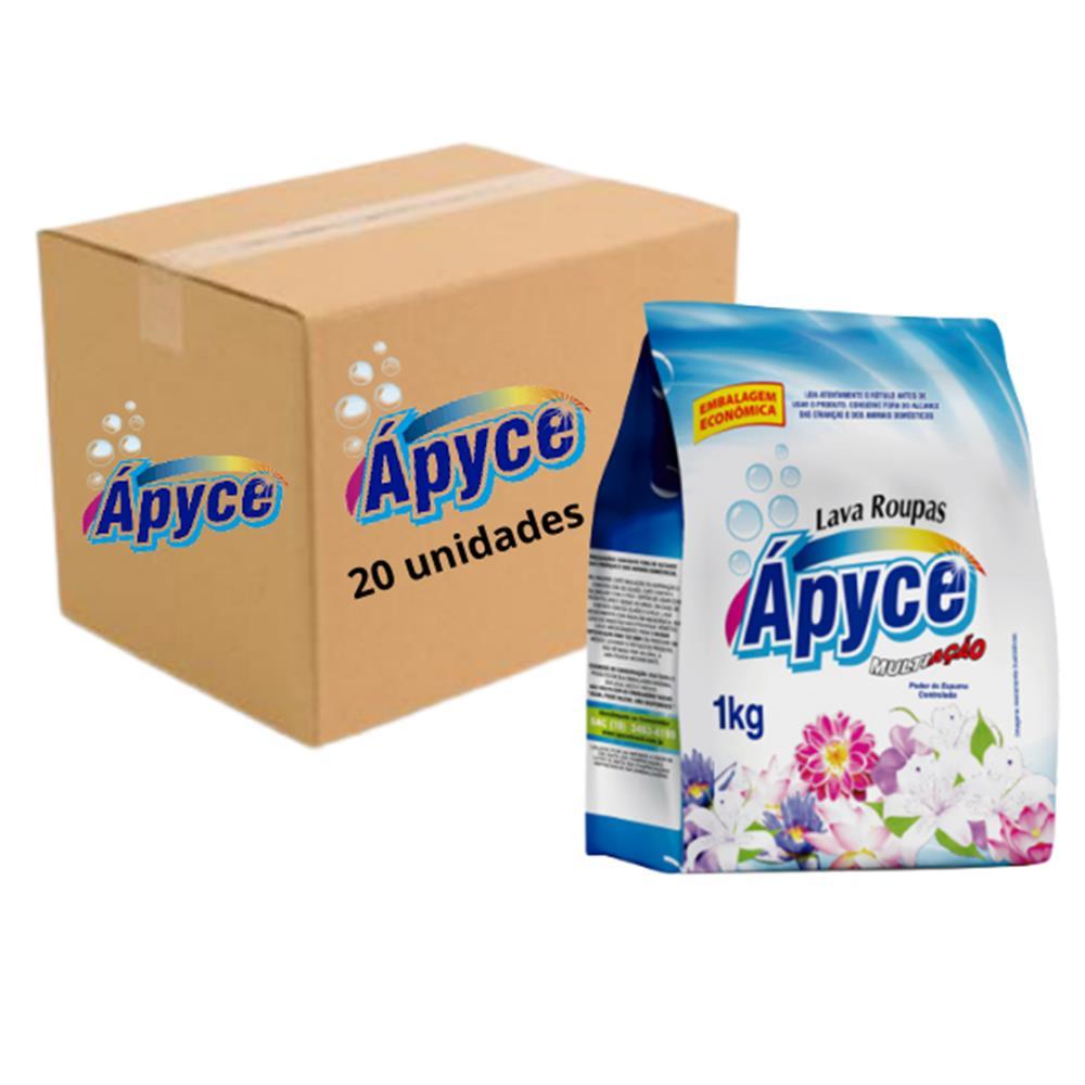 Sabão em pó Apyce 1Kg - Caixa com 20 unidades