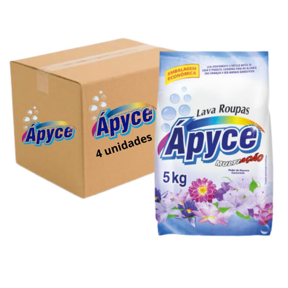 Sabão em pó Apyce 5kg - Caixa com 4 unidades