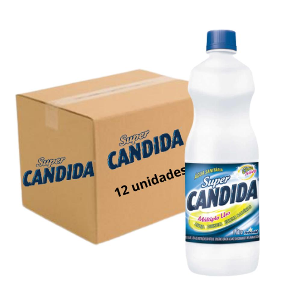 Água Sanitária Super Cândida 1L - Caixa com 12 unidades