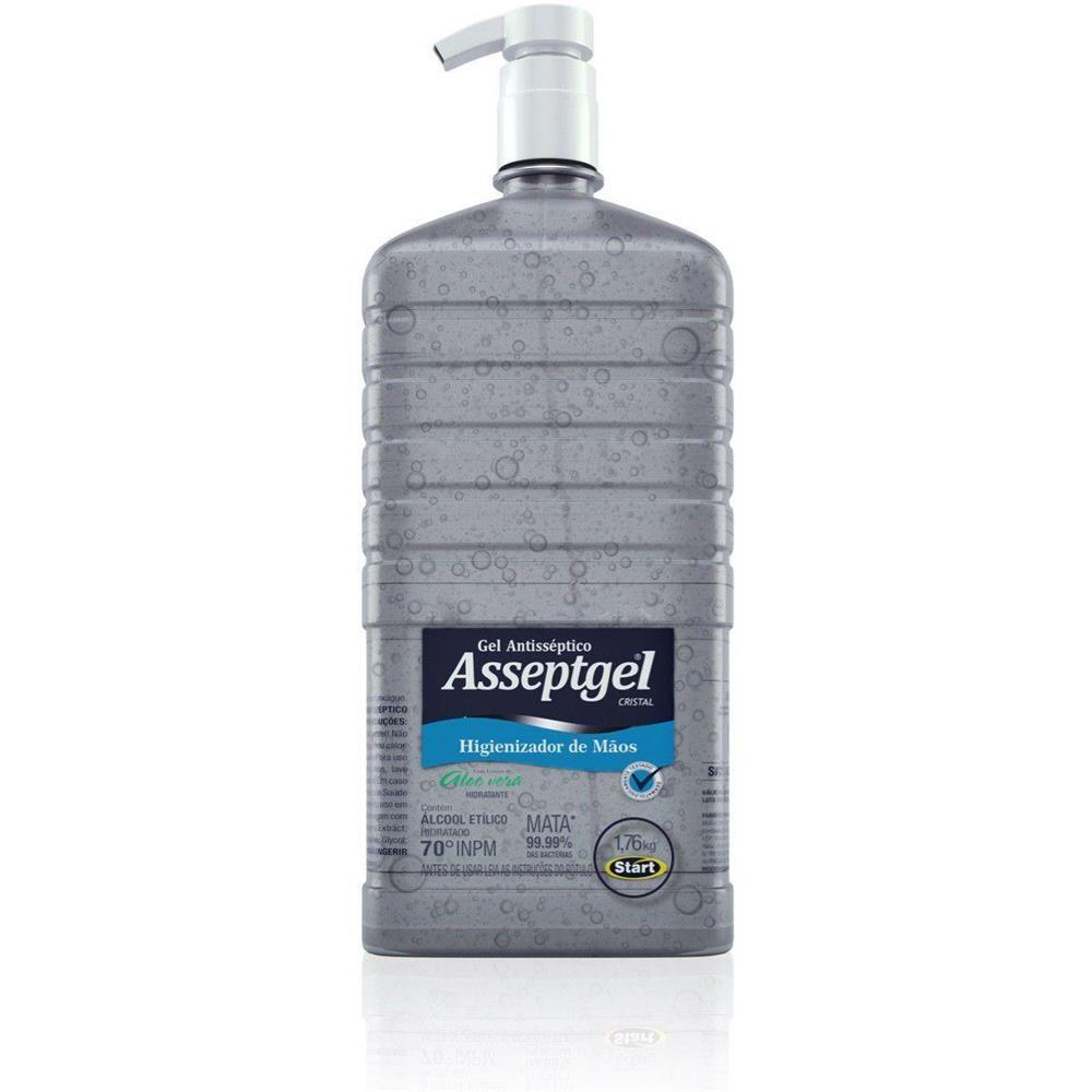 Álcool em Gel 70° Antisséptico para Mãos Asseptgel com Bico Dosador - 1,7 kg