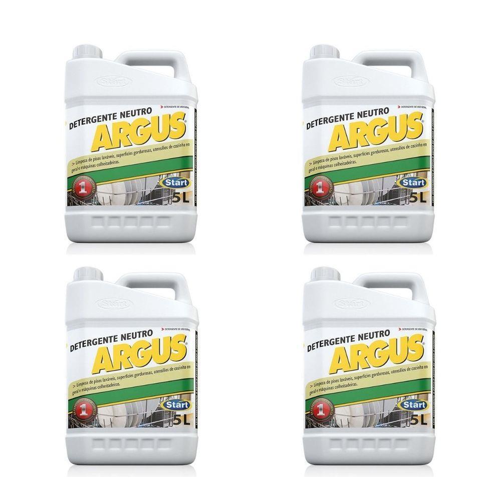 Detergente Multiuso Neutro Argus 5 L - Caixa com 4 unidades