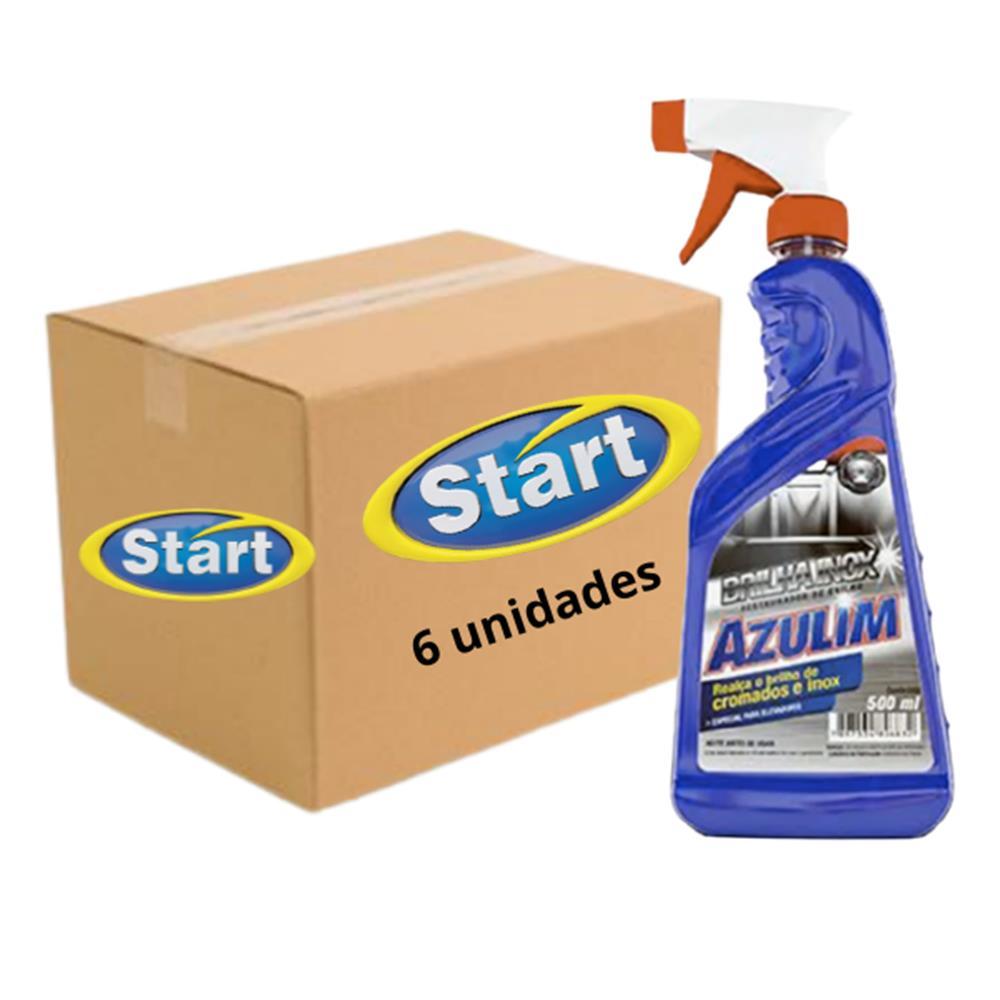 Brilha Inox Azulim Start - 500mL - Caixa com 6 unidades