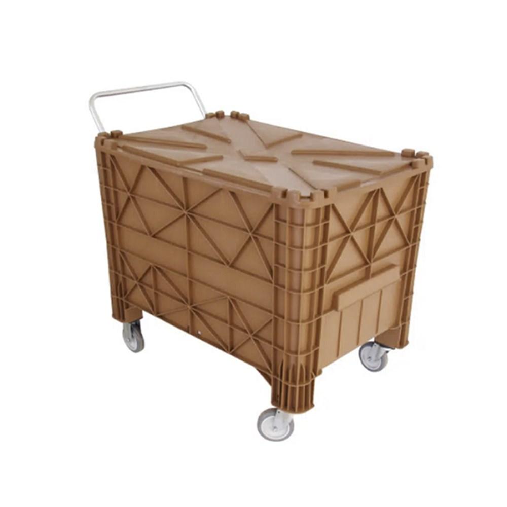 Caixa de Transporte Marrom com Roda - 370L